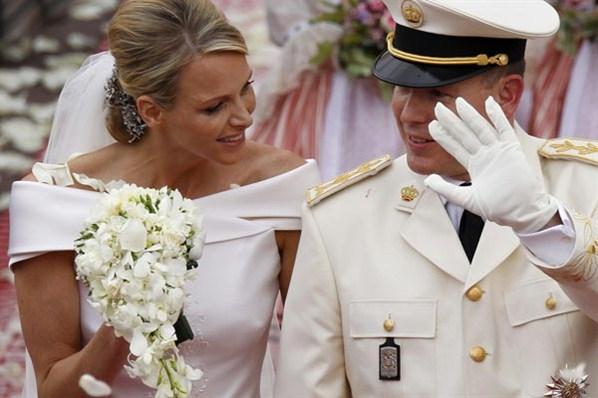 Bouquet da princesa Charlene de Mônaco