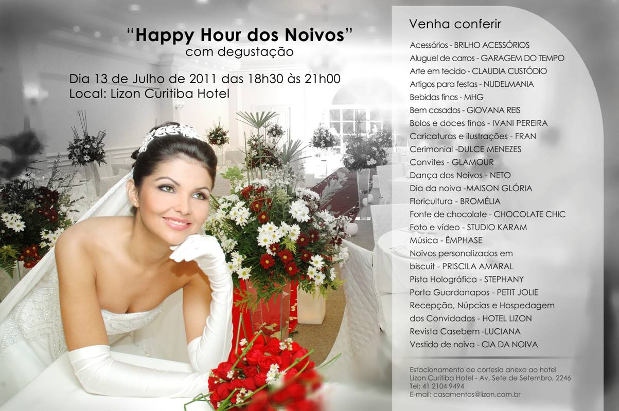 Happy Hour dos Noivos, no Hotel Lizon