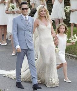 Vestido de noiva de Kate Moss