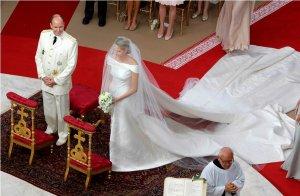 Vestido de noiva da princesa Charlene