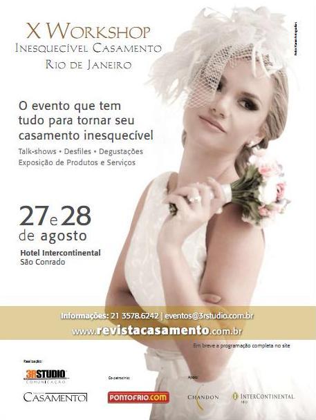 X Workshop Inesquecível Casamento Rio de Janeiro