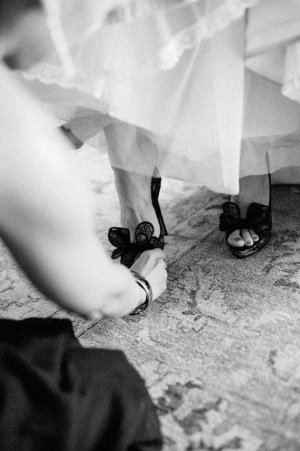 Sapato de noiva preto