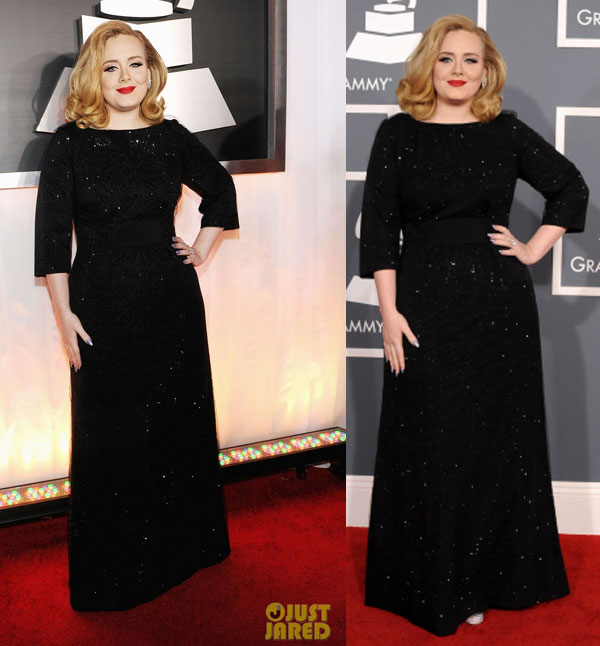 Adele Grammy Awards 2012 vestido de festa para inverno
